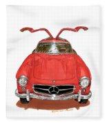 1955 Mercedes Benz 300 S L  Fleece Blanket
