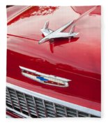 1955 Red Chevy Fleece Blanket