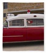 1955 Superior Cadillac Passenger Ambulance Fleece Blanket