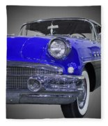 1956 Buick Special Riviera Coupe-blue Fleece Blanket