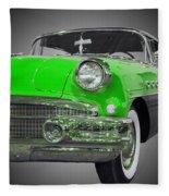 1956 Buick Special Riviera Coupe-green Fleece Blanket
