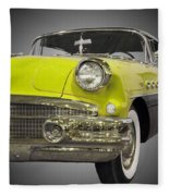 1956 Buick Special Riviera Coupe-yellow Fleece Blanket
