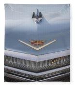 1956 Cadilac Sedan De Ville Smiling Fleece Blanket