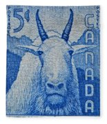 1956 Canada Mountain Goat Stamp Fleece Blanket
