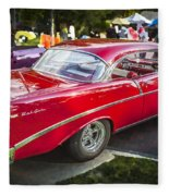 1956 Chevrolet Bel Air 210 Fleece Blanket