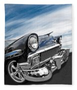 1956 Chevrolet With Blue Skies Fleece Blanket