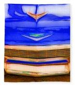 1956 Chevy - Blue Fleece Blanket