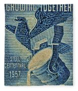 1957 America And Steel Growing Together Stamp Fleece Blanket