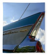 1957 Chevrolet Bel Air Fin Fleece Blanket