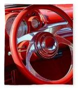 1957 Chevrolet Bel Air Steering Wheel Fleece Blanket