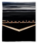 1957 Chevrolet Emblem Fleece Blanket
