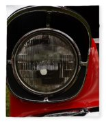 Old Car Headlight Fleece Blanket
