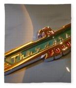 1957 Ford Thunderbird Emblem Fleece Blanket
