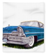 1957 Lincoln Premiere Convert Fleece Blanket