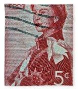 1957 St. Lawrence Seaway Opening Stamp Fleece Blanket