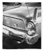 1957 Studebaker Golden Hawk Bw    Fleece Blanket