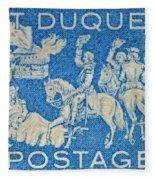 1958 Battle Of Fort Duquesne Stamp Fleece Blanket