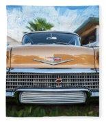 1958 Chevrolet Bel Air Impala Painted   Fleece Blanket