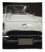 1958 Chevrolet Corvette Fleece Blanket
