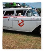 1958 Ford Suburban Ghostbusters Car Fleece Blanket