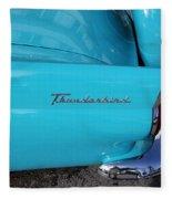 1958 Ford Thunderbird Detail Fleece Blanket