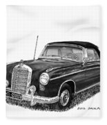 1958 Mercedes Benz 220s Fleece Blanket