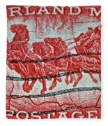 1958 Overland Mail Stamp Fleece Blanket