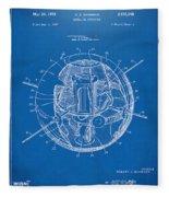 1958 Space Satellite Structure Patent Blueprint Fleece Blanket