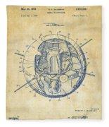 1958 Space Satellite Structure Patent Vintage Fleece Blanket