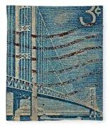 1958 The Mighty Mac Stamp Fleece Blanket