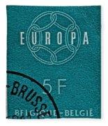 1959 Belgium Stamp - Brussels Cancelled Fleece Blanket