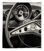 1959 Chevrolet Dash Fleece Blanket