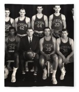 1959 University Of Michigan Basketball Team Photo Fleece Blanket