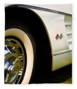 1959 White Chevy Corvette Fleece Blanket