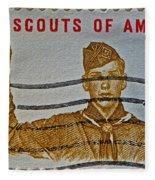 1960 Boy Scouts Stamp Fleece Blanket