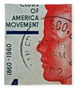1960 Boys' Clubs Of America Movement Stamp Fleece Blanket