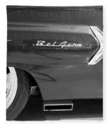 1960 Chevrolet Bel Air 3bw 012315 Fleece Blanket