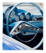 1960 Chevrolet Bel Air 4 012315 Fleece Blanket
