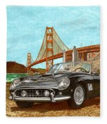 1960 Ferrari 250 California G T Fleece Blanket