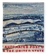 1960 First Automated Post Office Stamp Providence Rhode Island Fleece Blanket