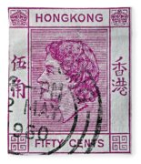 1960 Queen Elizabeth Hong Kong Stamp Fleece Blanket