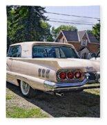 1960 Thunderbird 2 Fleece Blanket