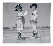 1960s Boy Little Leaguer Pitcher Fleece Blanket