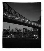 1960s Queensboro Bridge And Manhattan Fleece Blanket