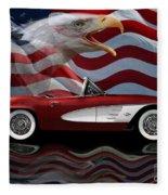 1961 Corvette Tribute Fleece Blanket