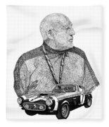 Sir Stirling Moss 1961 Ferrari G T 250 Fleece Blanket