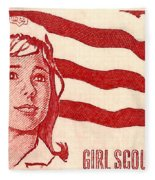 1962 Girl Scouts Of America Postage Stamp Fleece Blanket