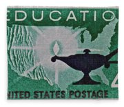 1962 Higher Education Stamp Fleece Blanket