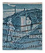 1962 Homestead Act Stamp Fleece Blanket