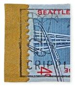 1962 Seattle World's Fair Stamp Fleece Blanket